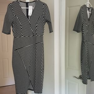 NWT Boutique Striped Bodycon Dress Size Large